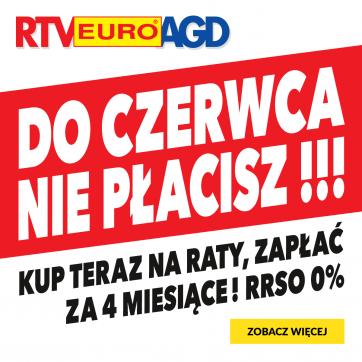W RTV Euro AGD do czerwca nie płacisz! Kup teraz na raty, zapłać za 4 miesiące!