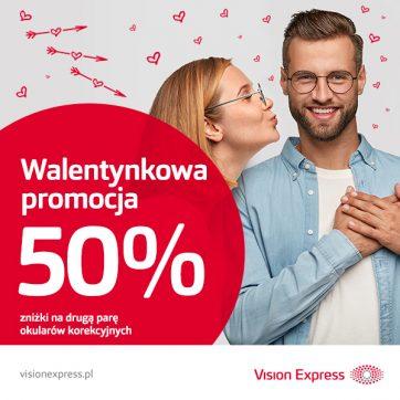 Promocja na Walentynki w Vision Express