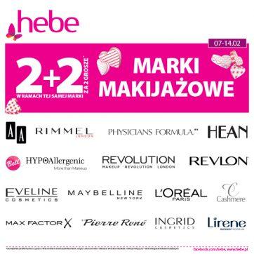 W ramach tej samej marki Makijażowej 2+2 za 2 grosze w Hebe