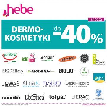 Dermokosmetyki do -40% w Hebe