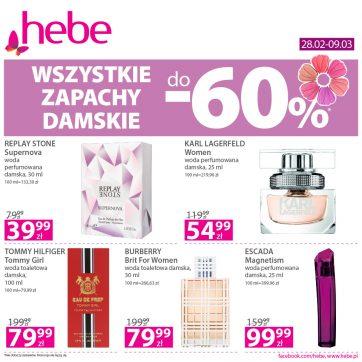 Oferta promocyjna Hebe – wszystkie damskie zapachy do -60%