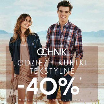 Weekendowa promocja -40% w Ochnik
