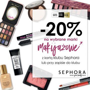 -20% na wybrane marki makijażowe w Sephora! Zbliża się szaleństwo zakupów!