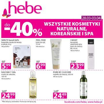 Wszystkie kosmetyki naturalne, koreańskie i spa do-40% w Hebe