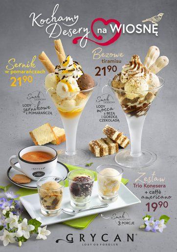 Wiosna w lodziarnio-kawiarni Grycan