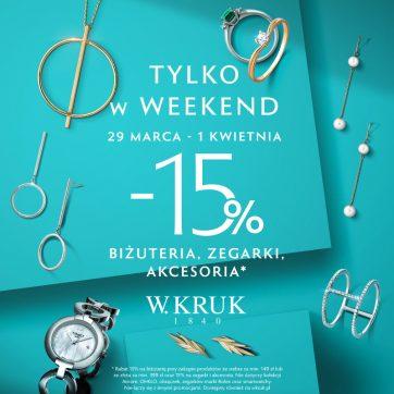 -15% na biżuterię, zegarki i akcesoria w W. Kruk