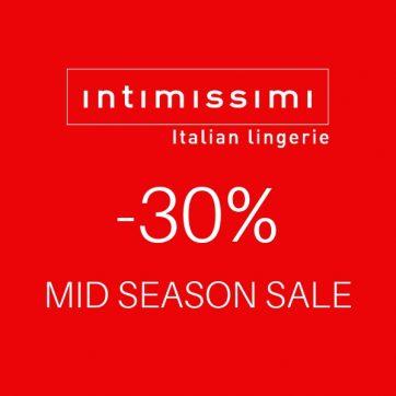 Mid season sale -30% w Intimissimi
