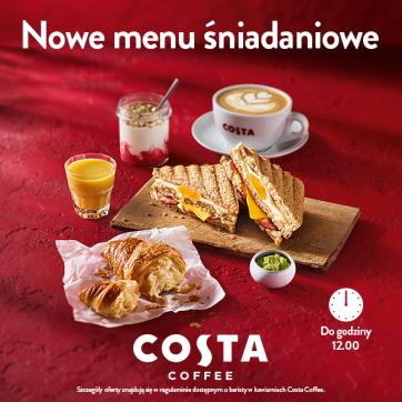 Zupełnie nowe menu śniadaniowe Costa Coffee