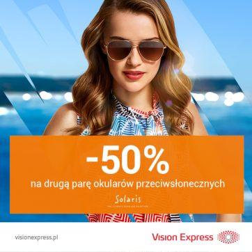 -50% na drugą pare w Vision Express