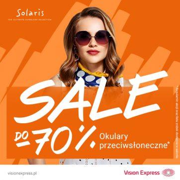 Wyprzedaż do -70% w salonie Vision Express