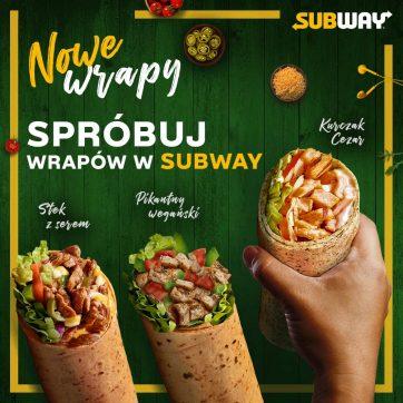 Nowe wrapy XL w Subway!