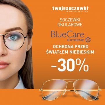 Skorzystaj  z promocji -30% na soczewki okularowe z powłoką antyrefleksyjną BlueCare