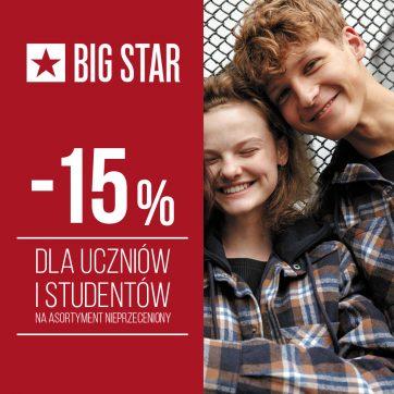 -15% dla uczniów i studentów w BIG STAR
