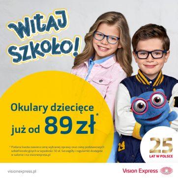 Witaj szkoło! Okulary dziecięce już od 89 zł*!