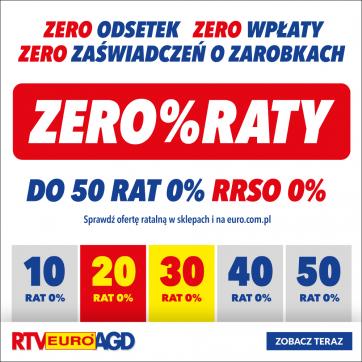 ZERO%RATY w RTV EURO AGD