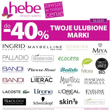 Hebe – Twoje ulubione marki do -40%*