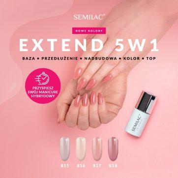 Nowe kolory innowacyjnej hybrydy do paznokci – Semilac Extend 5w1!