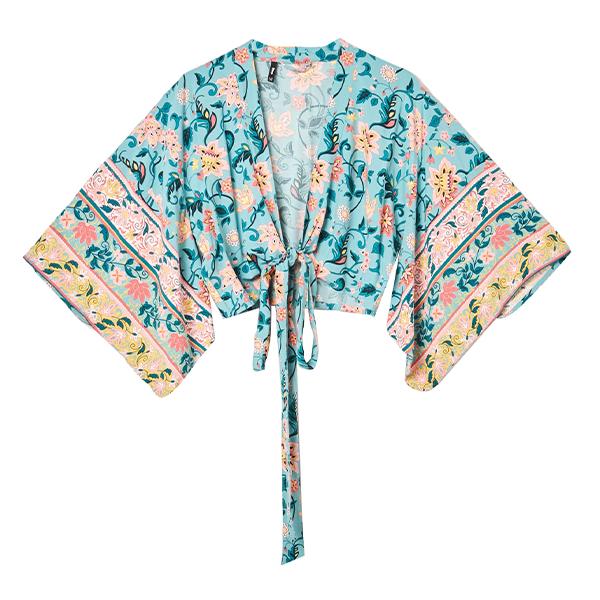 kimono, outfit na lato